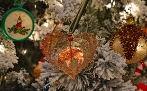 Picture decoration, toys, spruce, Christmas, New year