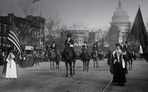 Wallpaper USA, March, On March 3, 1913, March 8, women suffragettes, Washington
