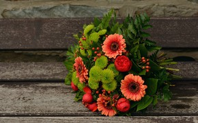 Picture Flowers, Bouquet, Background