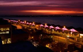 Picture night, lights, Brazil, Porto Alegre, Rio Grande do Sul