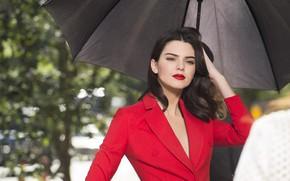 Picture girl, model, hair, makeup, jacket, Kendall Jenner