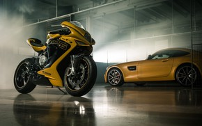 Wallpaper Car, Italy, Yellow, Bike, Superbike, Mv Agusta