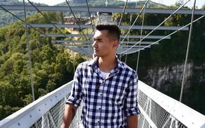 Picture bridge, nature, guy, Russia, Arthur Nigay