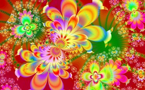 Picture flowers, pattern, bright