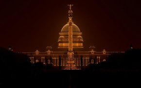 Picture lights, India, Republic day, Rashtrapati Bhavan, presidential Palace