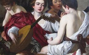 Wallpaper Caravaggio, Michelangelo Merisi da Caravaggio, Musicians, genre, picture, portrait