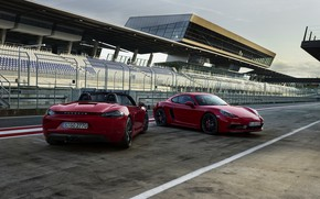 Picture Porsche, tribune, Speedway, 718 Cayman GTS, 718 Boxster GTS