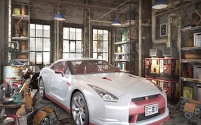 Picture car, the room, equipment, dream car, THE OLD GARAGE