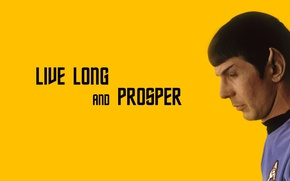Picture character, Star Trek, actor, minimalism, science fiction, man, sci-fi, TV series, Spock, Leonard Nimoy, Live …