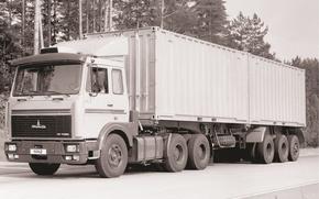Picture truck, tractor, triaxial, MAZ, MAZ-6422