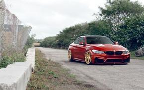 Picture BMW, Orange, Front, Stance, Wheels, Velos
