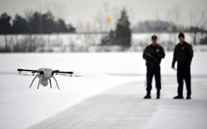 Picture ice, man, technology, drone