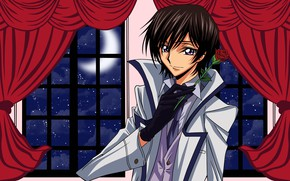 Picture look, rose, art, guy, Code Geass, Lilus