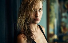 Picture portrait, sponge, curls, Lydia, Brice Lehmann