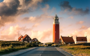 Picture road, lighthouse, home, Netherlands, Holland, lighthouse, Texel