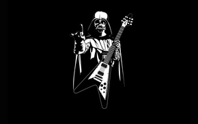 Picture Star Wars, guitar, Heavy Metal, Pearls