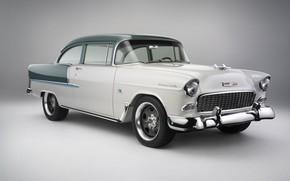Picture Chevrolet, Bel Air, retro, coupe, 1955