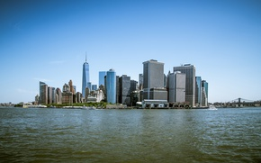 Picture Sea, New York, Manhattan, Building, City, USA, USA, New York, Manhattan, Sea, Buildings