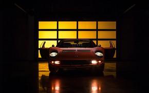 Picture Auto, Lamborghini, Machine, Light, 1971, Lights, Car, Supercar, The front, Lamborghini Miura, P400, Jeremy Cliff, …