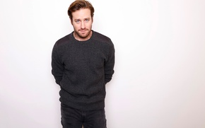 Picture face, jeans, male, sweater, young, Armie Hammer, Armie Hammer
