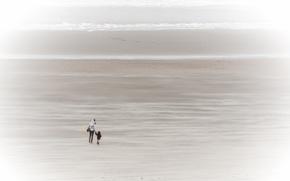 Picture sea, people, shore