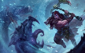 Picture battle, League of Legends, PRT, Riot Games, Joshua Brian Smith, fantasy. the game, Woad King …