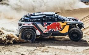 Picture Sand, Auto, Sport, Machine, Speed, Race, Skid, Peugeot, Red Bull, Rally, Dakar, Dakar, SUV, Rally, …