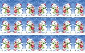 Wallpaper winter, snow, mood, holiday, kiss, art, girl, New year, snowman, children's