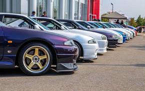 Picture nissan, turbo, wheels, skyline, tuning, r34, r33, r35, nismo, vspec, carshow, meet