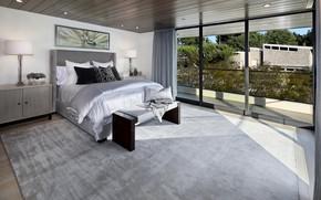 Picture bed, window, bedroom