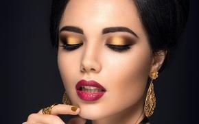 Picture girl, decoration, face, eyelashes, model, makeup