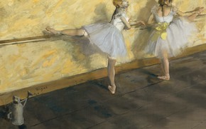 Picture picture, genre, Dancers in Barre, Edgar Degas