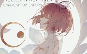 Picture wings, angel, anime, art, girl, Card Captor Sakura, Sakura - collector cards