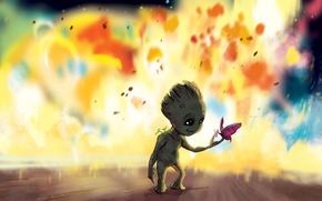 Picture cinema, movie, Vin Diesel, film, Groot, buterfly, Guardians Of The Galaxy, Baby Groot, Guardians Of ...