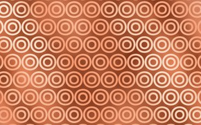 Wallpaper Pattern, Circles, Background, Texture, Gold