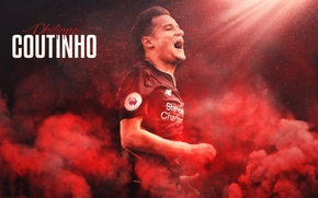 Picture wallpaper, sport, football, Liverpool, player, Philippe Coutinho