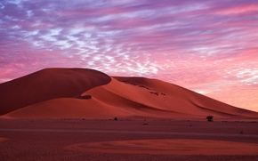 Picture sand, the sky, clouds, nature, desert, the evening, morning, dunes