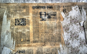Picture background, wall, newspaper