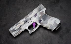 Wallpaper gun, background, macro, glock 19