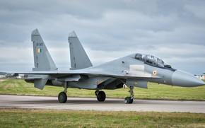 Picture the sky, the plane, Su-30MKI, combat aircraft, Sukhoi SU-30MKI Flanker