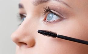 Picture eyes, eyelashes, makeup