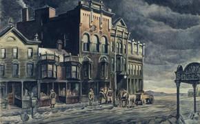 Picture Charles Ephraim Burchfield, Edge of Town, 1921-41