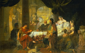 Picture oil, picture, canvas, history, Gerard de Lares, The Banquet Of Cleopatra