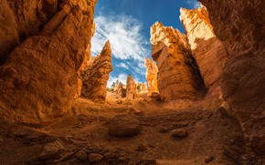 Picture mountains, rocks, gorge, Utah, USA, Bryce Canyon, national Park