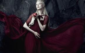 Picture girl, pose, style, mood, Apple, crown, hands, dress, Princess, Maria Amanda, Bella Kotak, Mary Amanda …