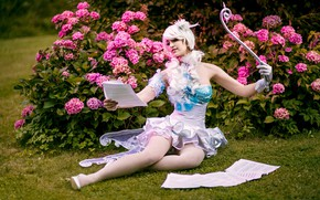 Picture girl, nature, model, fairy, outfit, cosplay