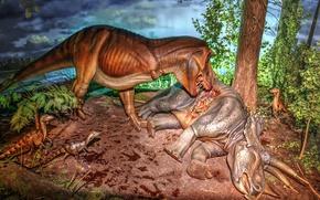 Picture exposure, dinosaurs, Museum, Milwaukee public Museum