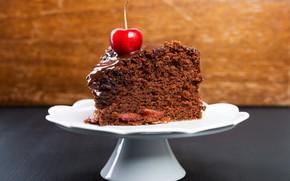 Picture cake, cream, sweet, chocolate glaze