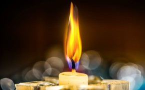 Wallpaper fire, flame, candle