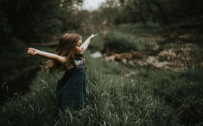 Picture freedom, nature, girl